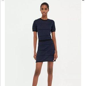 NWOT Zara Knit Sweater Dress Large Jersey Bodycon